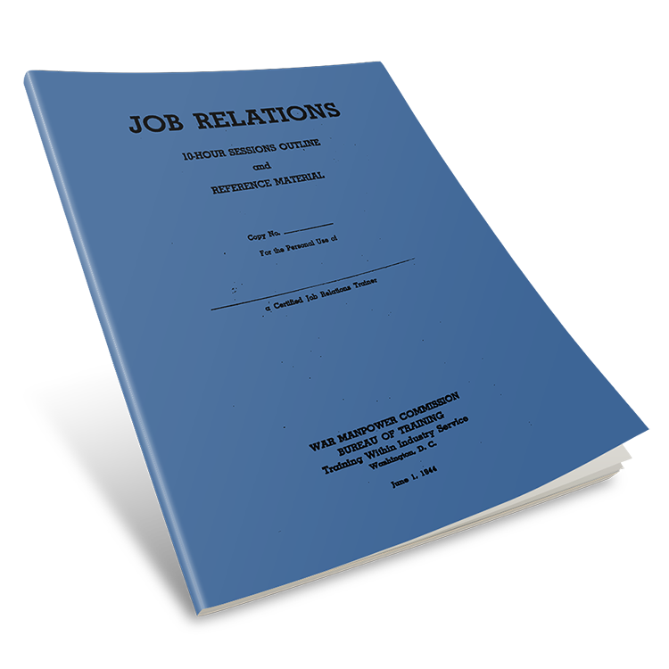 TWI Job Relations Manual